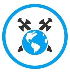 Earth Swords Icon vector image
