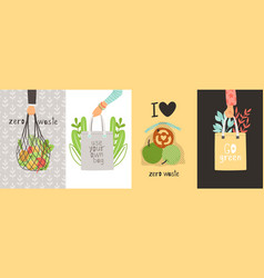 eco cards collection vector image