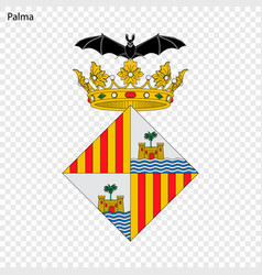 emblem of palma city of spain vector image