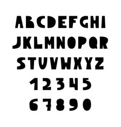 english alphabet in scandinavian style vector image