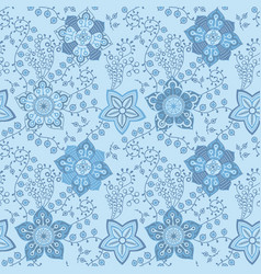 Floral seamless pattern handdrawn vector