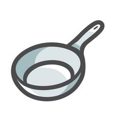 Frying pan empty icon cartoon vector