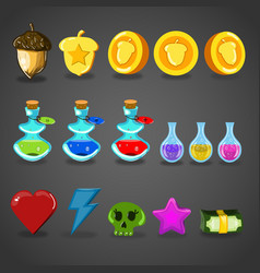 Game resources icons vector