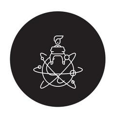 global entrepreneur black concept icon vector image