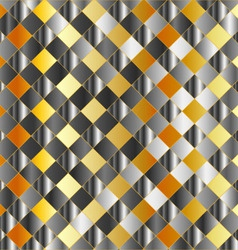 Gold and silver chequered background vector
