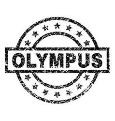 Grunge textured olympus stamp seal vector
