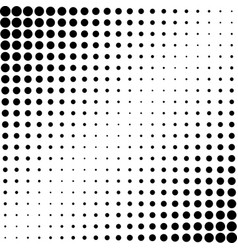 halftone effect background dotted black vector image