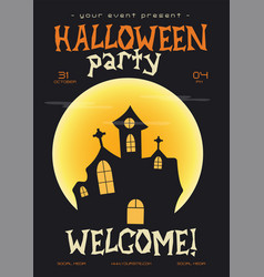 halloween party flyer trending autumn holiday vector image