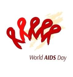 Hand-drawn ribbon symbolizing AIDS Artistic vector image