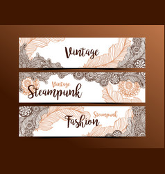 Hand drawn steampunk technology element with gear vector