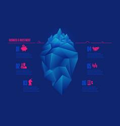 Icebergconcept vector