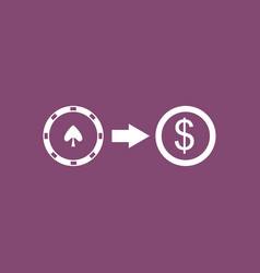 Icon chips equal money vector
