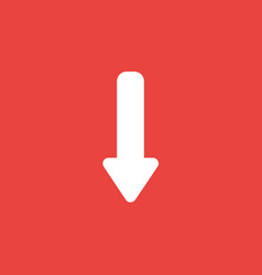icon concept of arrow moving down on red vector image