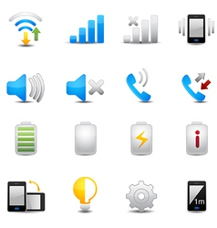 Icons set for mobile phone vector