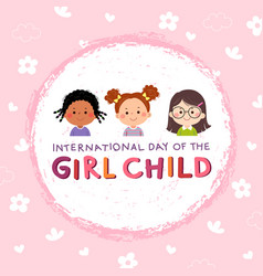 international day of the girl child background vector image