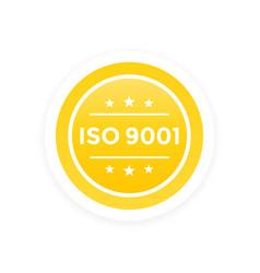 Iso 9001 label vector