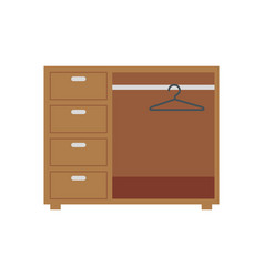 Isolated closet furniture design vector