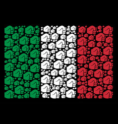 italian flag pattern of fist icons vector image