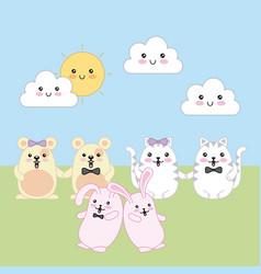 kawaii animal cartoon vector image