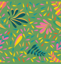 leaves seamless background pattern design vector image