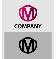 Letter M logo Alphabet logotype design vector