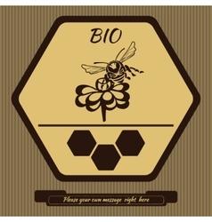 Logo for advertising honey 4 vector