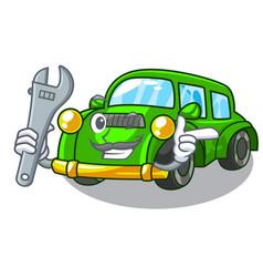 Mechanic classic car toys in cartoon shape vector