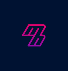 mh logo m and h minimalist colorful logo modern vector image