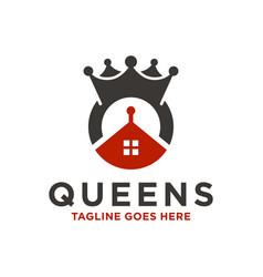modern queen crown logo vector image
