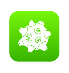 moon with craters icon digital green vector image