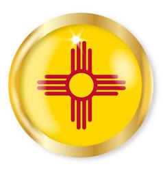 new mexico flag button vector image