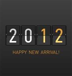 New year arrival 2012 vector