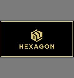 od hexagon logo design inspiration vector image
