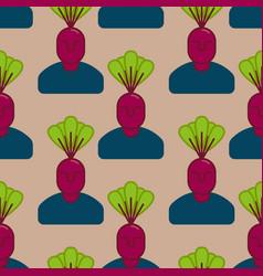 office vegetables garden manager beet vegetable vector image