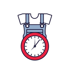 Overall uniform construction with clock time vector