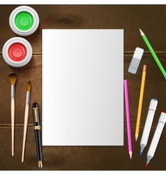Painter Mockup vector image