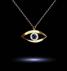 Pendant with eye vector