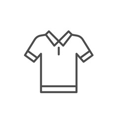 polo t-shirt line icon vector image