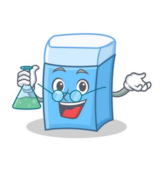 professor eraser character mascot style vector image
