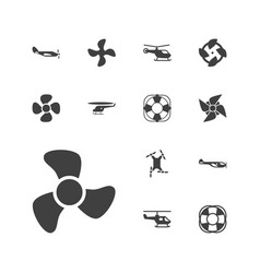 Propeller icons vector
