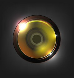 realistic high quality camera photo lens vector image