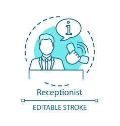 Receptionist concept icon secretary manager vector