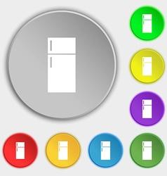 Refrigerator icon sign Symbols on eight flat vector