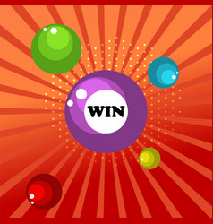 retro sign with lotto balls win banner vector image