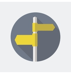 Road Sign Flat Icon vector image