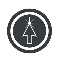 Round black arrow cursor sign vector