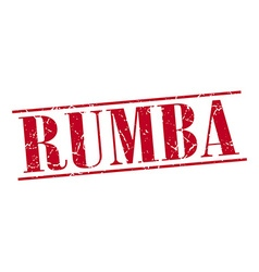 rumba red grunge vintage stamp isolated on white vector image