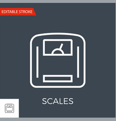 scales icon vector image