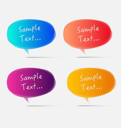 Set of colorful bubbles for speech design vector