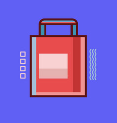 shopping bag icon set of great flat icons use vector image